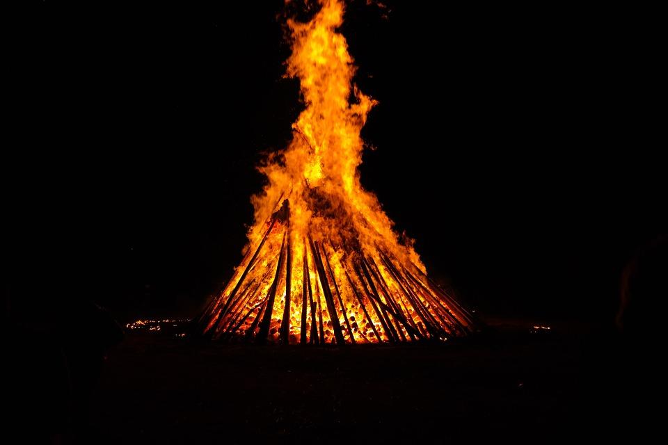 Fire, Fire Circle, Hot, Heat, Burn, Flame, Midsummer