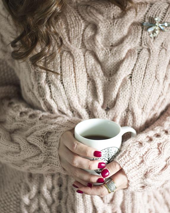 Coffee, Jacket, Hands, Girl, Heat, Comfort
