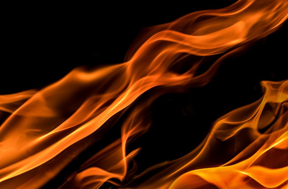 Flames, Black, Red, Yellow, Fire, Burnt, Heat, Warmth