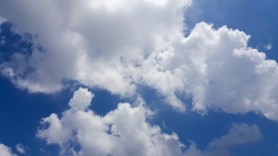 Blue Sky, White Cloud, Sky, Heaven, Day