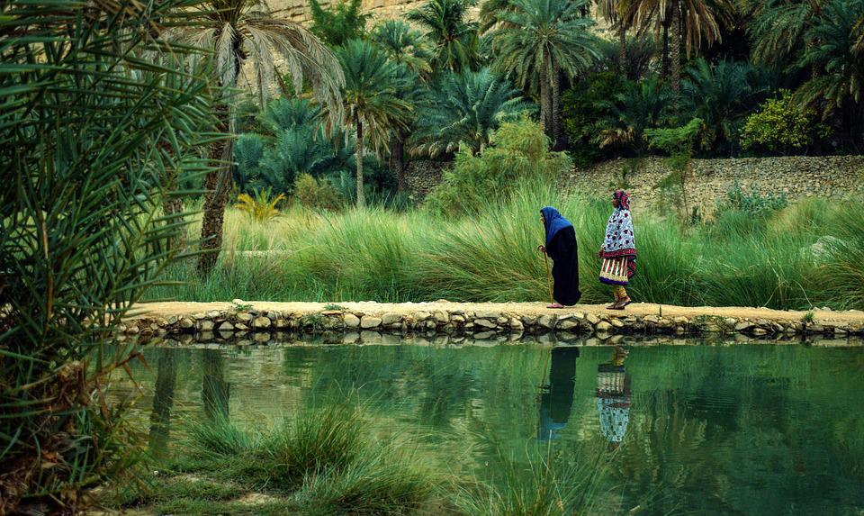 Oman, Nature, Aging, Culture, Lake, Heaven In Desert
