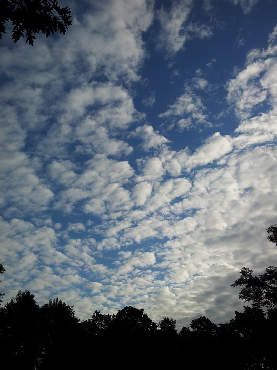 Sky, Clouds, Blue, Cloudscape, Air, Heaven, Heavens