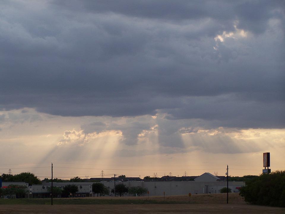 Heavens, Window, Light, Clouds, City, Urban, Suburban