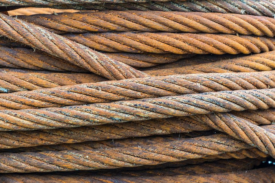 Free photo Heavy Coil Rust Wire Rope Industry Strength Wire - Max Pixel