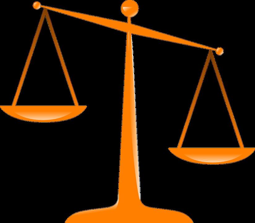 Justice, Scales, Orange, Libra, Comparison, Heavy