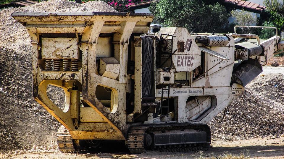 Crusher, Heavy Machine, Yellow, Equipment, Construction