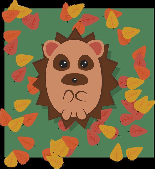 Hedgehog, Animal, Cute, Cartoon, Character, Nature
