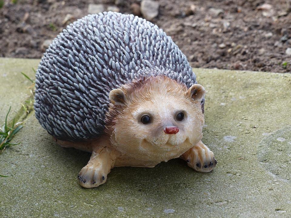 Hedgehog, Stone Tiles, Garden, Spring, Figure