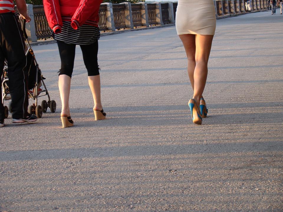 Legs, Women's, Details, Shoes, Heels, Woman, Quay