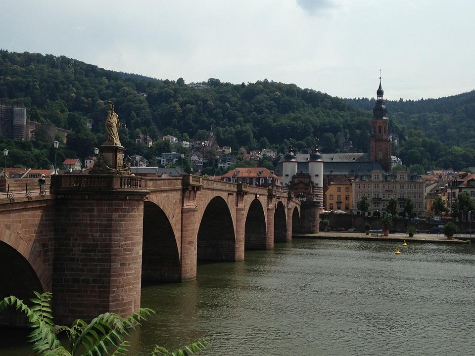 Heidelberg, Bridge, Karl-theodor, Germany, Stone