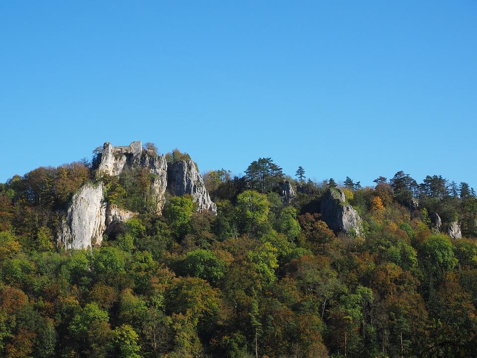 Ruin Hohengerhausen, Rusenschloss, Ruin, Height Burg