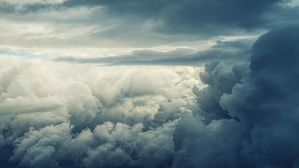Sky, Clouds, Dark, Atmosphere, Sunlight, Height