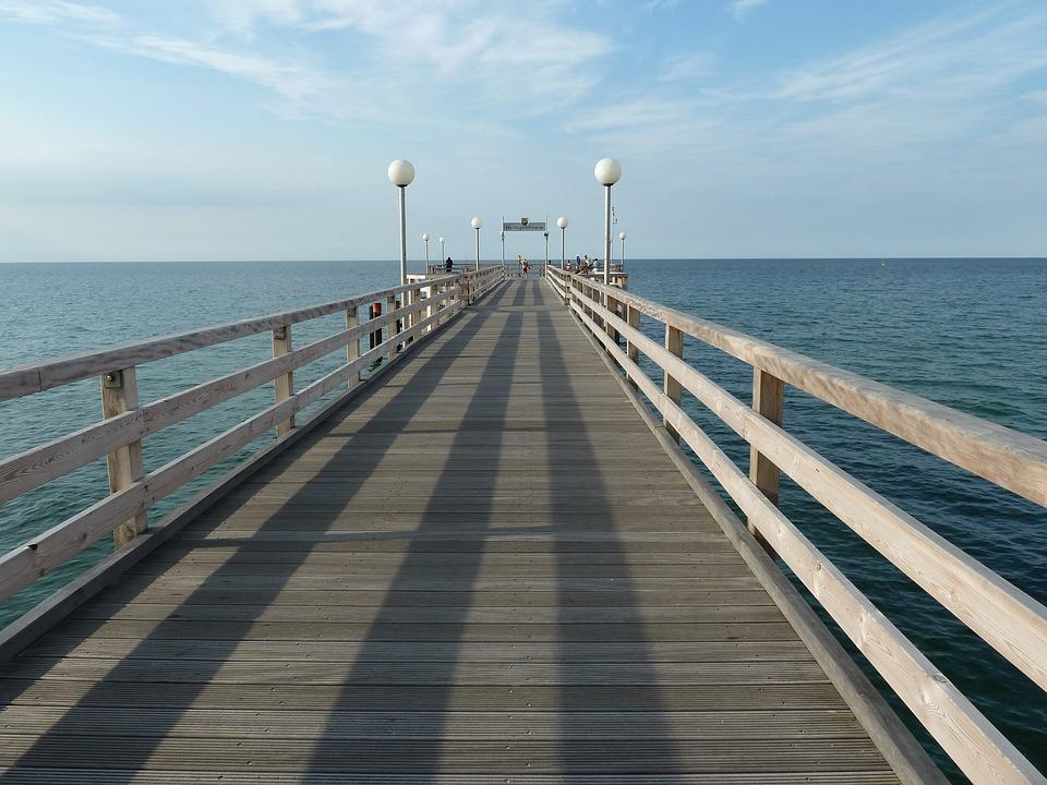 Sea Bridge, Heiligendamm, Baltic Sea, Bad, Architecture