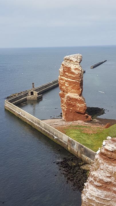 Helgoland, Rock, North Sea, Sea Island, Landscape
