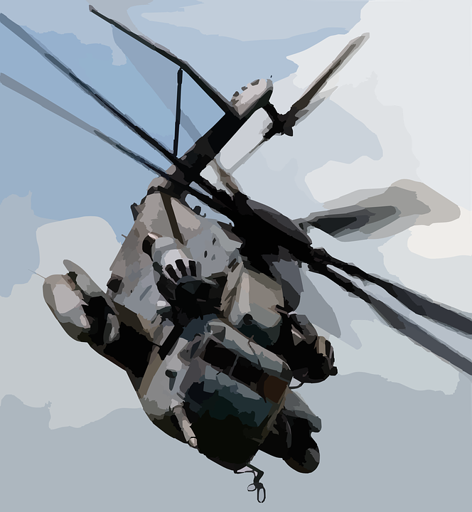 Helicopter, Chopper, Military, Fly, Vehicle, Transport