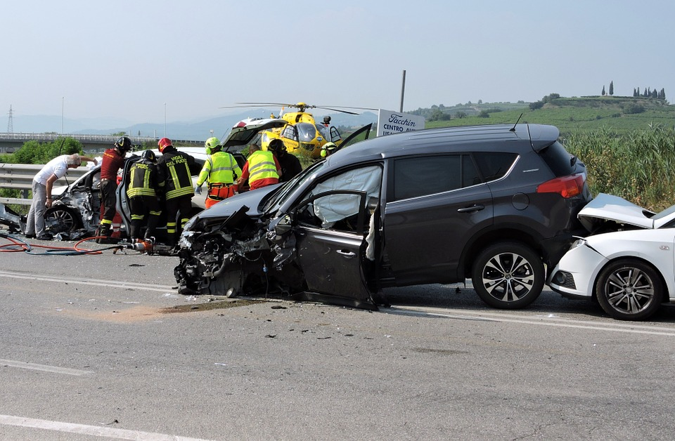Accident, Rescue, Road, Firemen, Auto, Helicopter