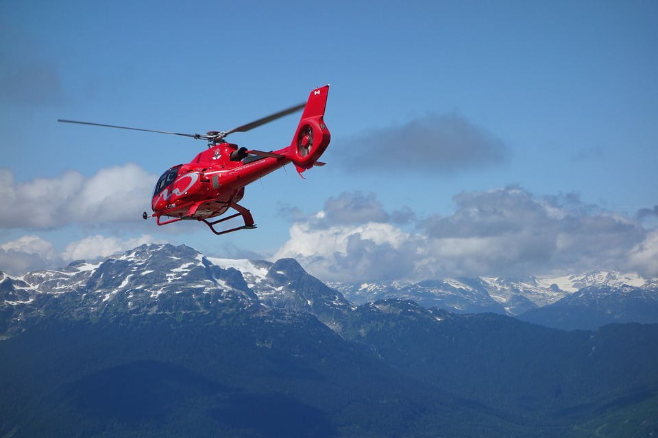 Canada, Whistler, Helicopter, Mountains, Air Rescue