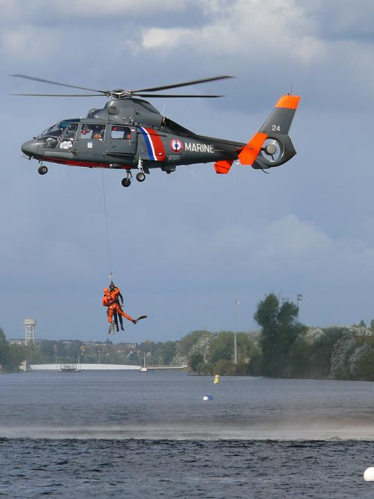 Rescue, Rescuer, Helicopter, Sea, Rotor, Driver
