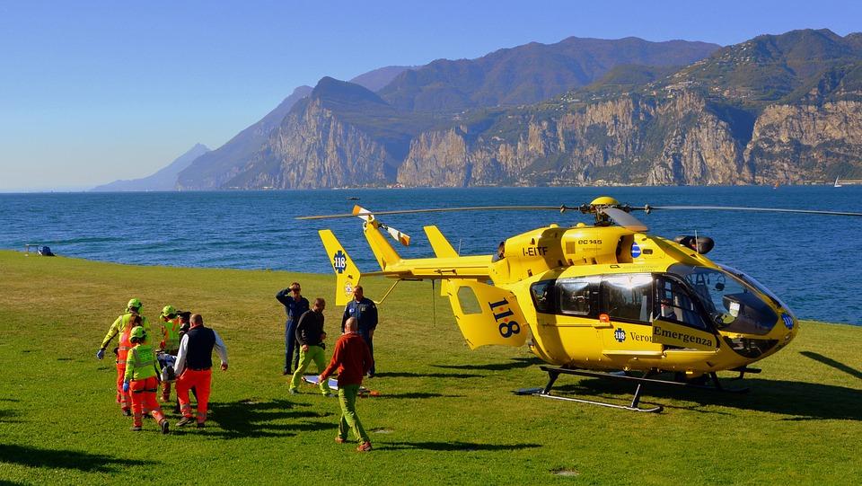 Rescue, Helicopter, Lake, Prato, Garda, 118 Emergency
