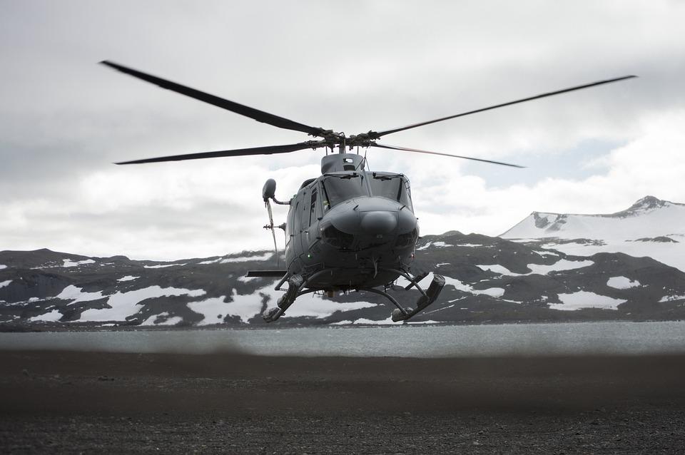 Helicopter, Landing, Snow, Antarctica, Logistics