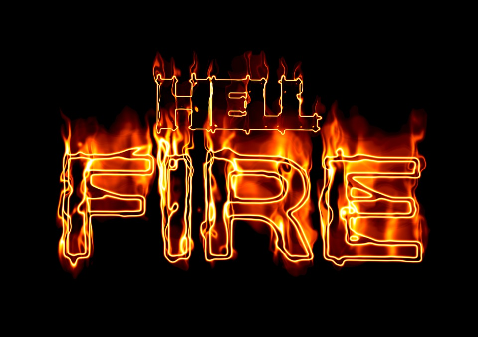 Fire, Font, Hell, Hell Fire, Flame, Burn, Brand