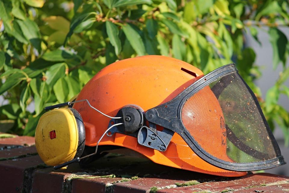 Helmet, Helm, Gardening, Mow, Eye Protection