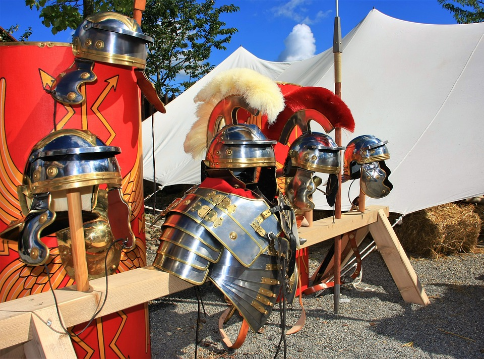 Rome, Germania, Limes, Armor, Helm, Sword, Romans