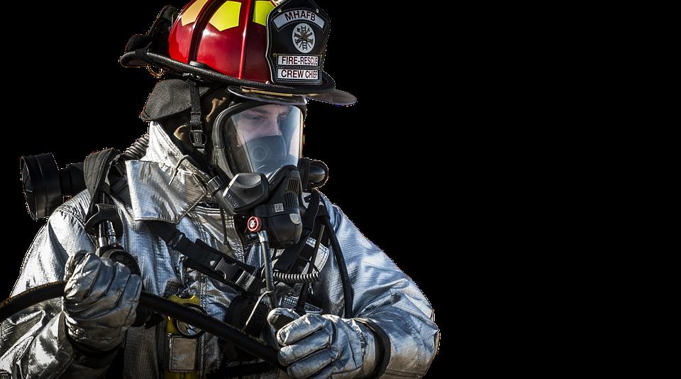 Isolated, Firefighter, Fireman, Helmet, Emergency