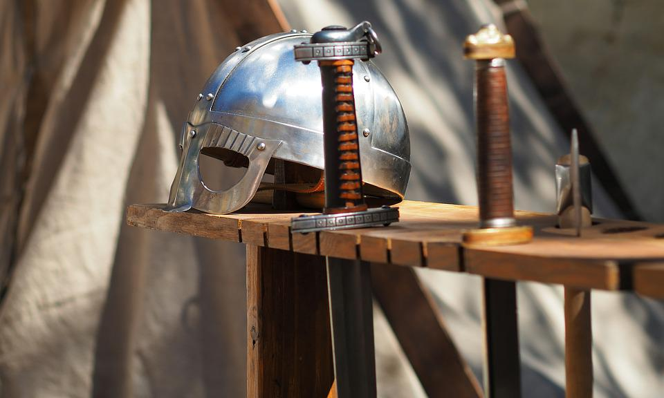 Helmet, Knight, Sword, Weapons, Middle Age