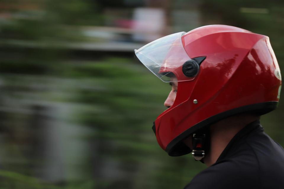 Helmet, Red, Sports, Protection, Bike, Head, Motion