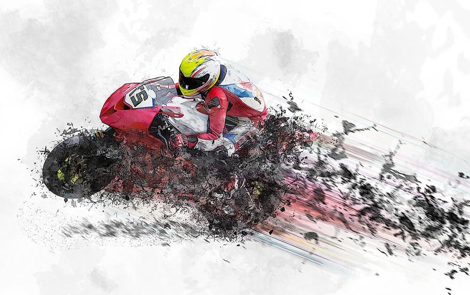 Motorcycle, Machine, Jockey, Speed, Helmet, Plan