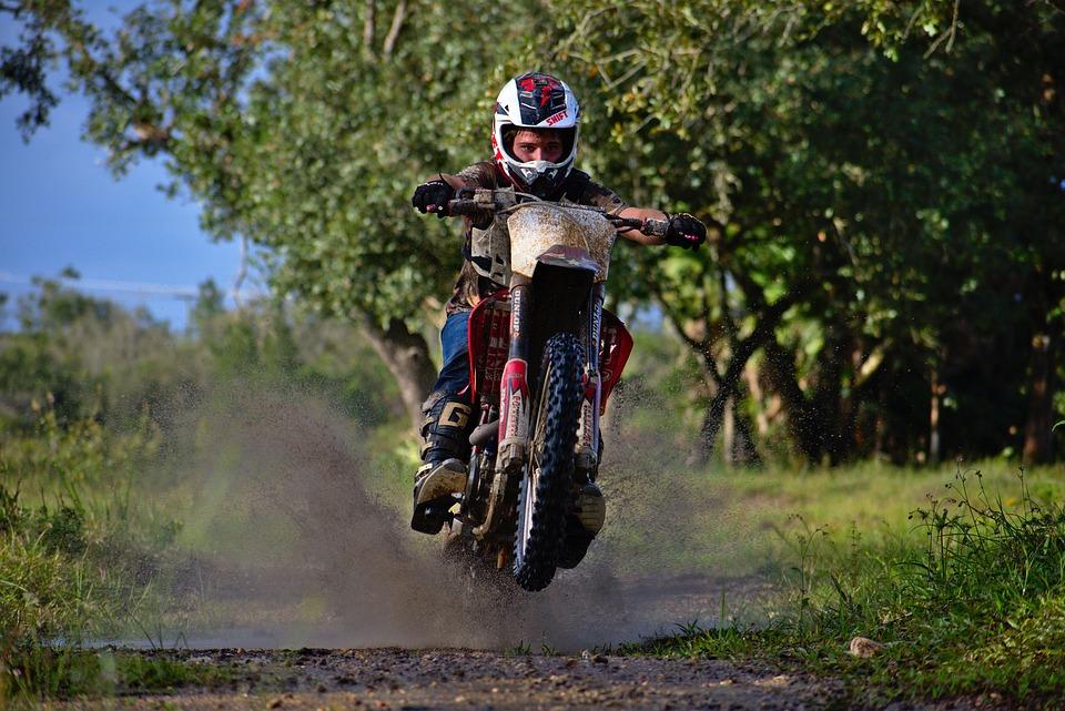 Wheeler, Splash, Rider, Bike, Hurry, Helmet, Action