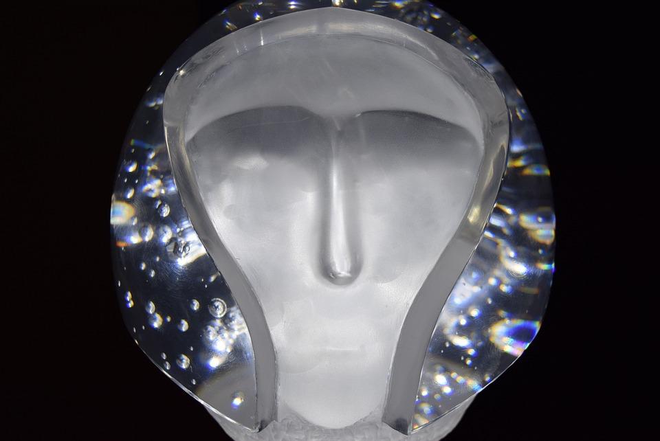 Sculpture, Transparent, Head, Future, Helmet, Alien
