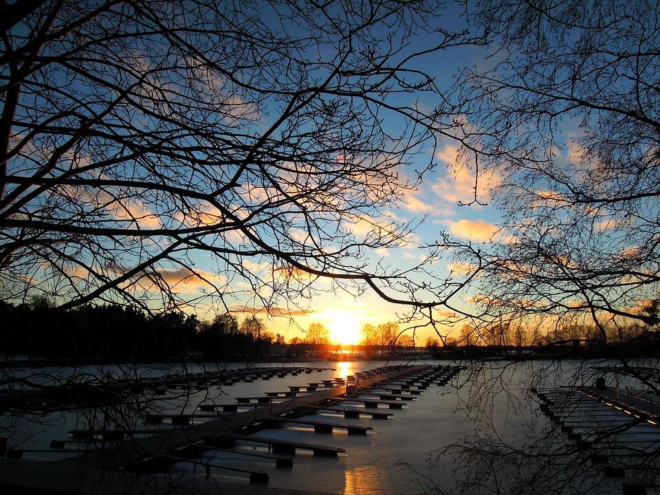 Sunset, Beach, Helsinki, Finnish Bay, Water, Sun, Sea