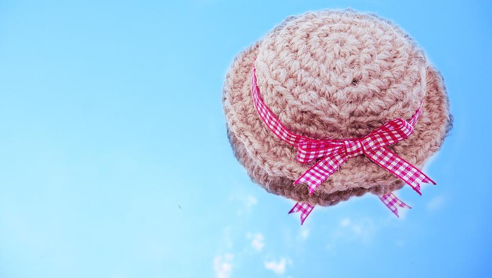 Hat, Ribbon, Sky, Hemp, Asahimo, Handicraft, Cute, Blue