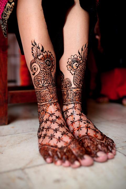 Mehndi, Feet, Tattoo, Bride, Wedding, Henna, Body Art