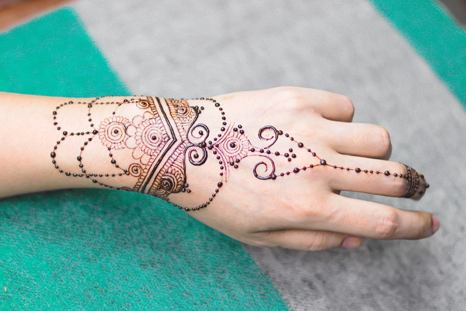 Girl, Henna, Hand, Bridal, Brown, Cosmetic, Design