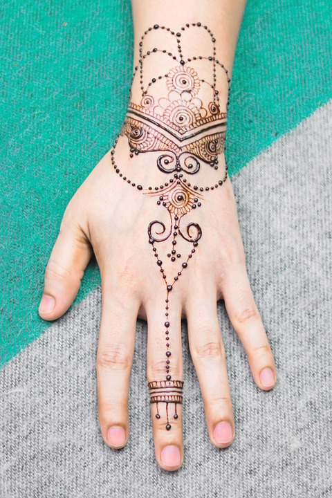 Henna, Henna Hand, Bridal, Brown, Cosmetic, Design