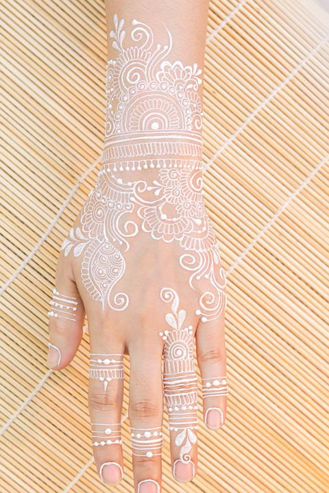 Mehndi, White Henna, Tattoo, Hand, Henna, Culture
