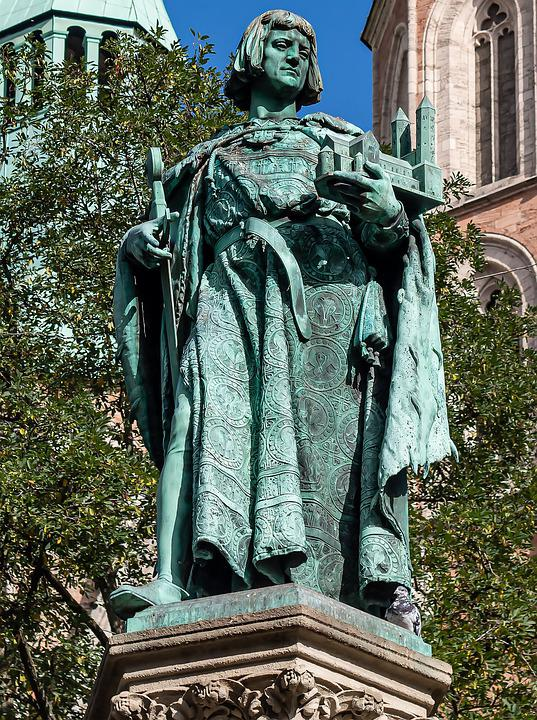 Henry Fountain, Statue, Park, Sculpture, Historical