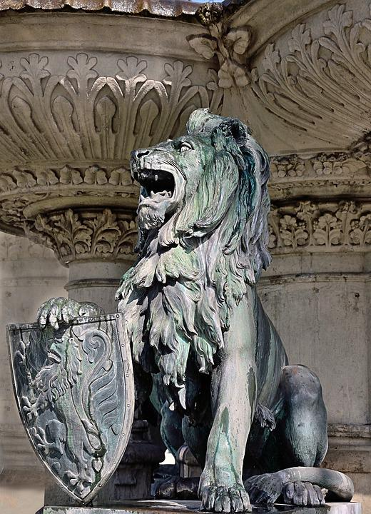 Sculpture, Lion, Braunschweig, Henry Fountain