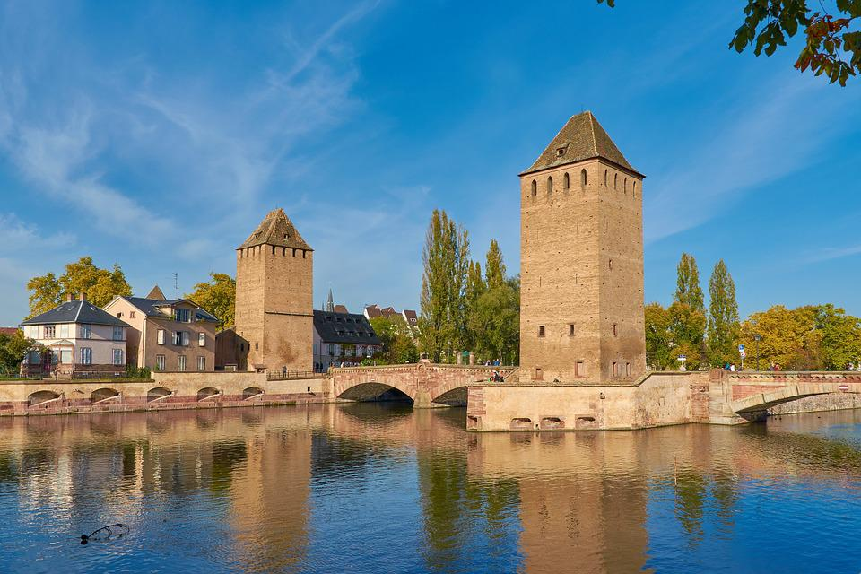 Alsace, Strasbourg, Henry Tower, Pont Envelopes