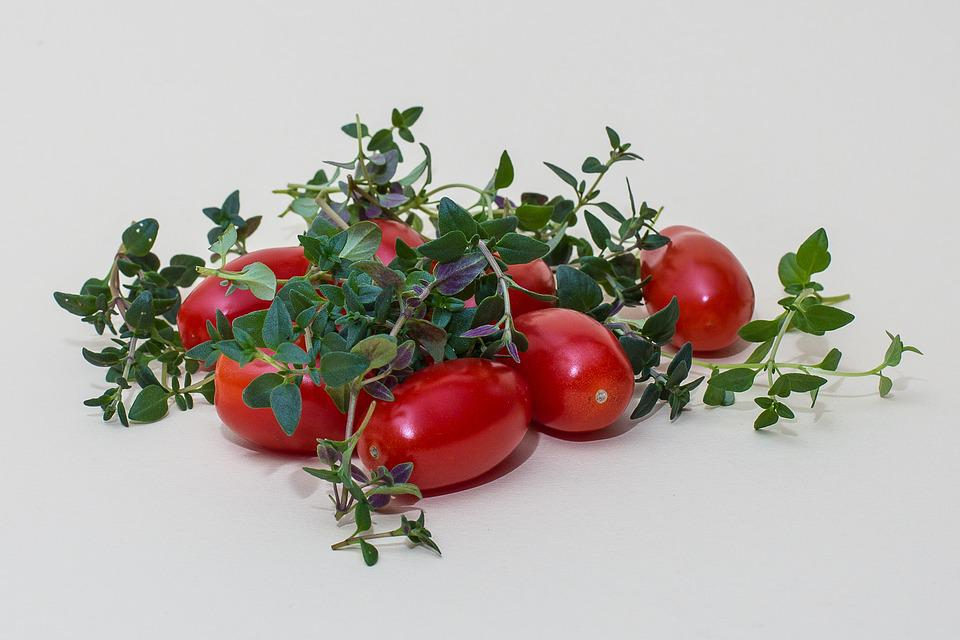 Herbs, Thyme, Tomatoes, Kitchen Spice, Herb, Cook