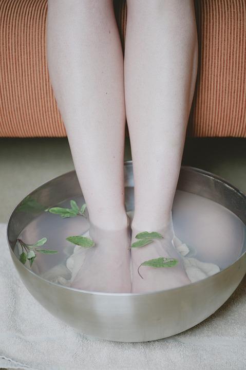 Foot Bath, Herbs, Sage, Spa