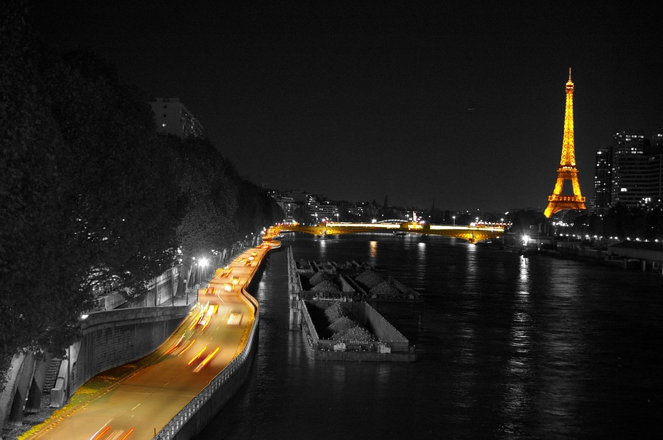 Paris, Eiffel Tower, Heritage, Architecture, Night