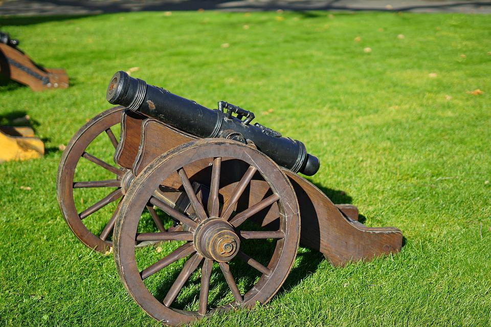 Cannon, Signal, Old, Monument, Shot, Green, Heritage