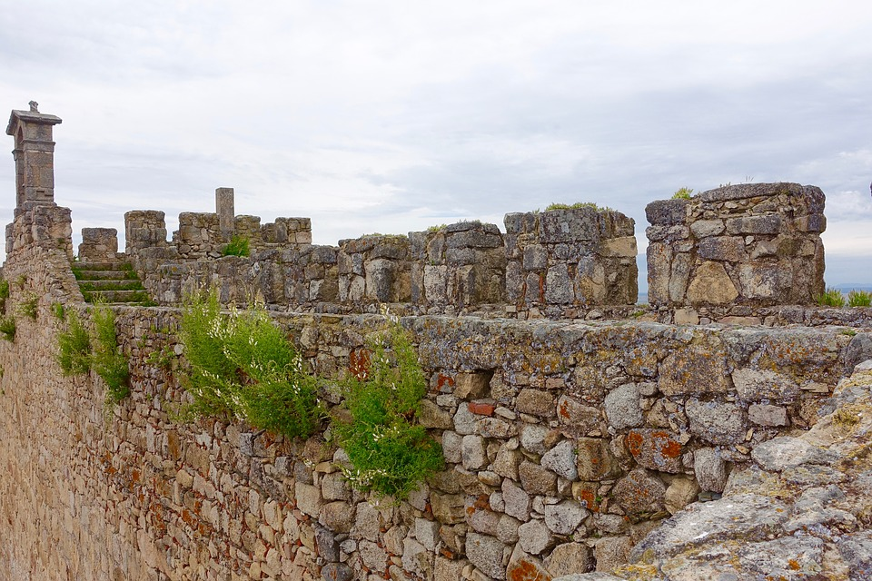 Wall, Embattlement, Medieval, Stone, Heritage