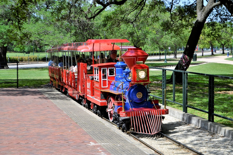 Herman National Park, Herman Park Zoo, Train, Children