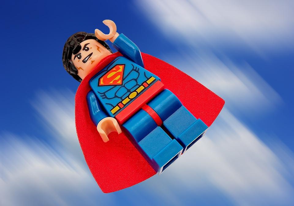 Superman, Lego, Superhero, Hero, Super, Man, Clark