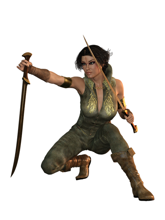 Woman, Sword, Fight, Amazone, Warrior, Heroine, Fantasy
